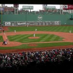 The Fenway Park and the Green Monster.